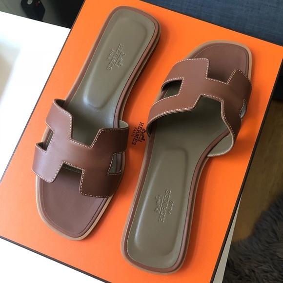 6298b3cf5416 Hermes Shoes - Hermès Oran Sandals in Gold